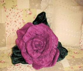 Rose Soft Sculpture Pillow Ringbearer Wedding