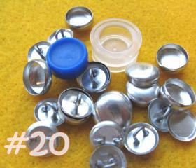 Covered Button Kit - 1/2 inch - Size 20
