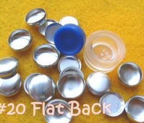 Covered Button Kit FLAT BACKS - 1/2 inch - Size 20