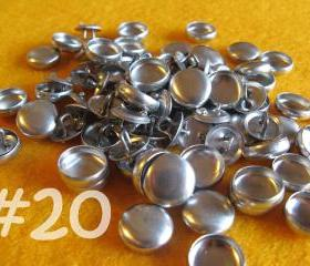 50 Covered Buttons - 1/2 inch - Size 20