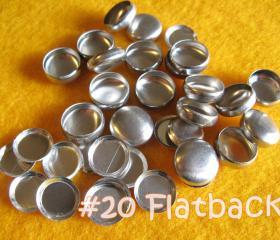 50 Covered Buttons FLAT BACKS - 1/2 inch - Size 20