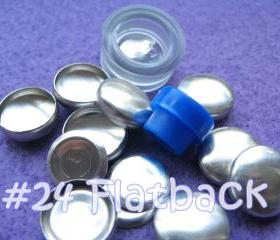 Covered Button Kit FLAT BACKS - 5/8 inch - Size 24