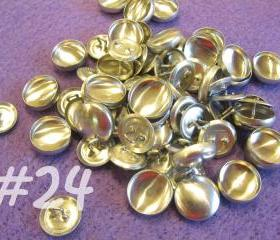 25 Covered Buttons - 5/8 inch - Size 24