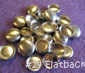 25 Covered Buttons FLAT BACKS- 5/8 inch - Size 24