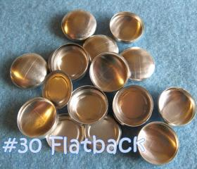 SALE - 100 Covered Buttons FLAT BACKS- 3/4 inch - Size 30