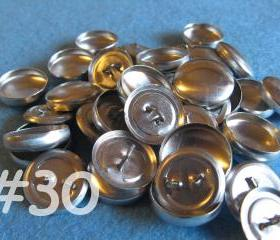 SALE - 100 Covered Buttons - 3/4 inch - Size 30