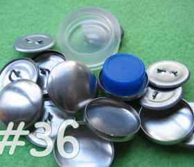 Covered Button Kit - 7/8 inch - Size 36