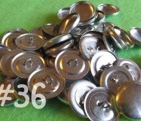 Sale - 100 Covered Buttons - 7/8 inch - Size 36