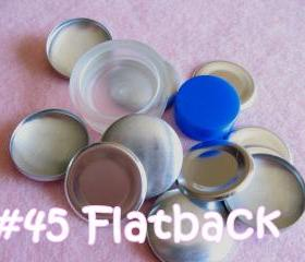 Covered Button Kit FLAT BACKS - 1 1/8 inches - Size 45