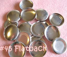 25 Covered Buttons FLAT BACKS - 1 1/8 inches - Size 45