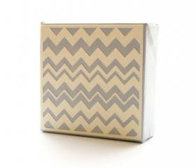 Gray and Cream Chevron Art Block