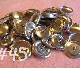 50 Covered Buttons - 1 1/8 inches - Size 45