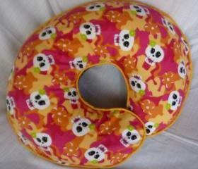 Boppy Nursing Pillow Cover Girly Tropical Skulls