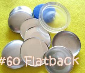 Covered Button Kit FLAT BACKS - 1 1/2 inch - Size 60