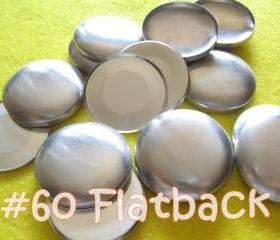 12 Covered Buttons FLAT BACKS - 1 1/2 inches - Size 60