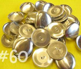 25 Covered Buttons - 1 1/2 inches - Size 60