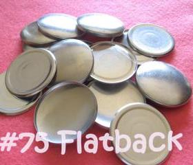 12 Covered Buttons FLAT BACK - 1 7/8 inches - Size 75