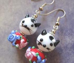 Cute White Kitty Earrings