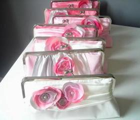 Modern Bride Bridesmaids' Clutch in Satin Customized in your own Wedding Colors