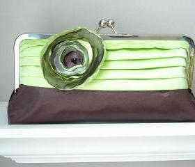 Modern Bride - Satin Bridal Clutch with Pleated Detail - Customized in your own Wedding Colors