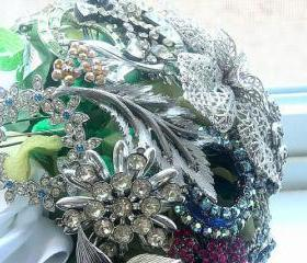 Vintage Rhinestone Brooch Bridal Bouquet - One of a Kind Heirloom for your Wedding Day - Ready to Ship