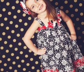 Kanzashi Summer Dress, Girls Sewing pattern, Pattern Pdf- 2 to 10 years, For beginners 