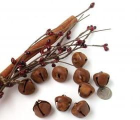Rusty Jingle Bells - 20mm - Medium size - Crafting or Sewing Supply - 15 Count Package