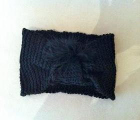 Black Knitted Hairband