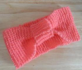 Handmade Knitted Headband Pink