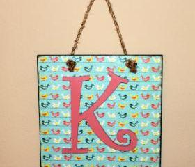 Personalized Custom Letter Wall Hanging- Decoupaged Initial or Name