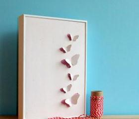 Framed Butterfly Art - hand cut from eco friendly recycled card.