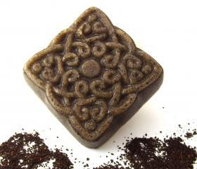 Coffee Solid Body Scrub Soap Sugar Decorative Square Brown 4 oz Natural