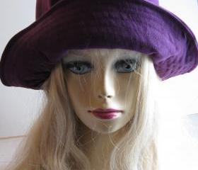 Purple Suede Hat