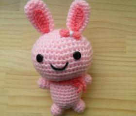 Amigurumi doll - pink bunny