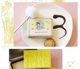 Korean DIY Wooden Stamp Set - Yellow