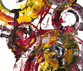 Contemporary Art - Abstract Painting - Modern Art - Rich Round Red Spherical Joy -- 840.120911