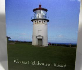 Lighthouse Greeting Card - Kilauea Lighthouse, Kauai, Hawaii