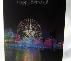 Mickey Fun Wheel Birthday Card - California Adventure Park's World of Color Show