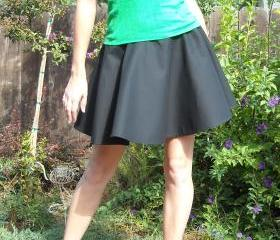 Custom made womens black circle skirt