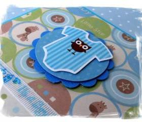 Baby Boy Onesie Handmade Card