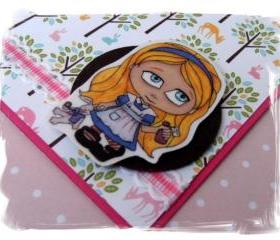 Kreepy Kids Alice with the White Rabbit Happy Birthday Handmade Card