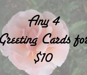 Greeting Card / Note Card Set - Any 4