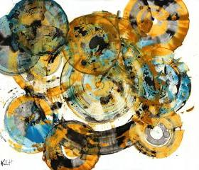 Magical Spheres Abound -- Modern Abstract Original Paintings -- Contemporary Art -- 991.042212