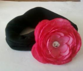 Baby Girl's Pink Rose Headband