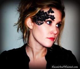 Black Lace Accessory - Adheres to skin! 