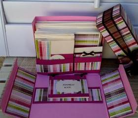 Stationery Box Set - Pink Plaid