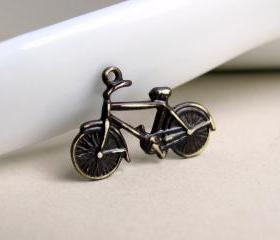 Hand Aged Bicycle Pendant