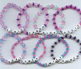Custom Beaded Name Bracelet, any name and any colors