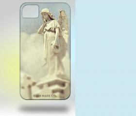 iPhone 4 Case: New Orleans Angel Original Photography blue white clouds pastel