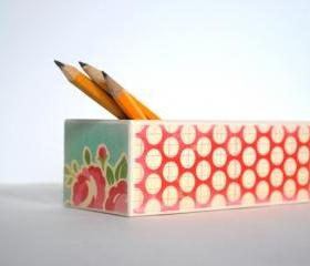 Pretty Polka Dot Pencil Box